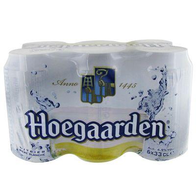 Biere blanche Hoegaarden 4,9°Pack boites 6x33cl