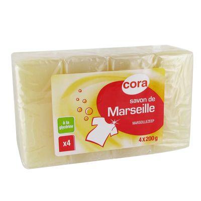 Cora savon de marseille la glyc rine 4x200g - Savon de marseille sans glycerine ...