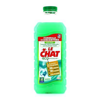 Lessive liq.eco efficacite eco pack Le Chat 1,875L 25 lavag.