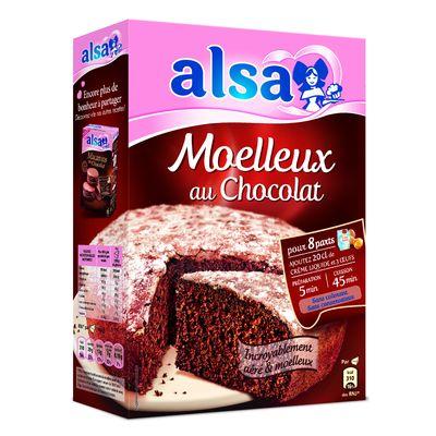 Preparation pour gateau au chocolat alsa