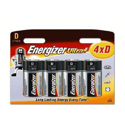 4 piles LR20 ultra+ D 1,5V