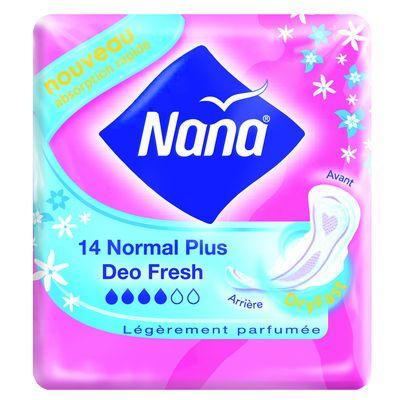 Nana, Deo Fresh - Serviette Normal Plus, le paquet de 14