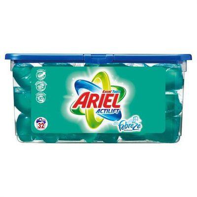 Ariel ecodoses excel tablettes x32 febreze 1.12kg