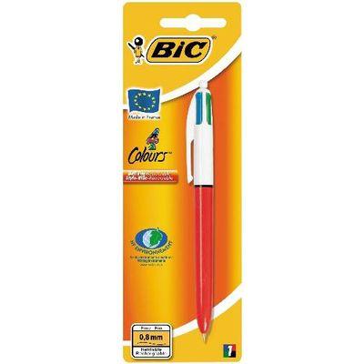 Bic Stylos bille 4 couleurs rétractable pointe fine