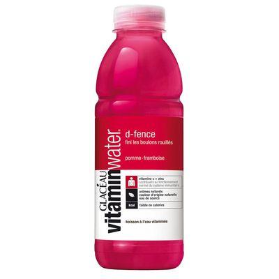 Glaceau Vitaminwater, Boisson D-Fence a l'eau de source aromatisee pomme framboise, la bouteille de 500 ml