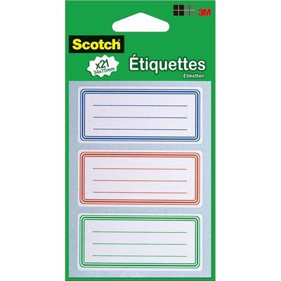 Etiquettes écolier 3,4 x 7,5 cm de couleur