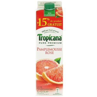Tropicana Pure Premium pamplemousse rose 1l +15% gratuit