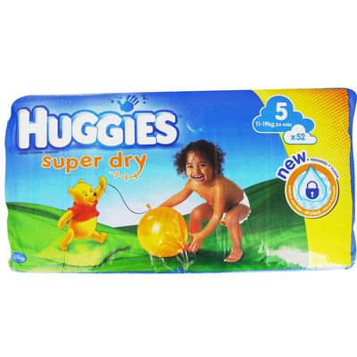 Couches Huggies Superdry, Drylock T5 11-19kg x52