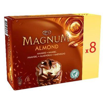 Magnum, Batonnets de glace amande, la boite de 8 - 656g