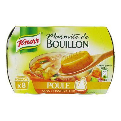 Préparation culinaire Marmite de bouillon poule Knorr