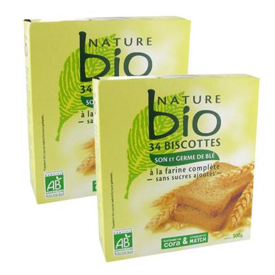 Nature Bio Biscottes bio à la farine complète