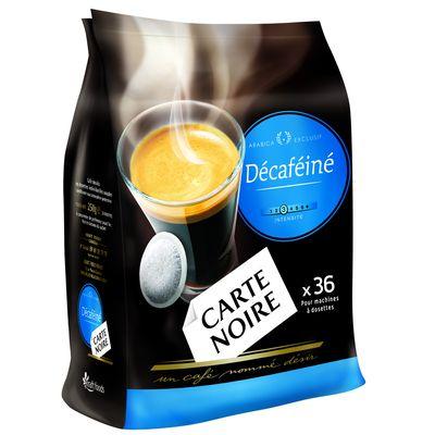 Dosettes cafe Carte Noire Decafeine x36 250g