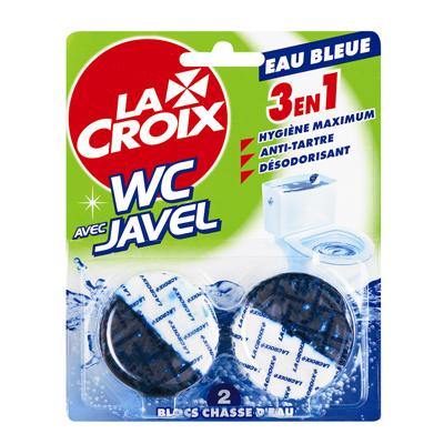 La Croix Blocs pour chasse d'eau 2 en 1 javel & eau bleue