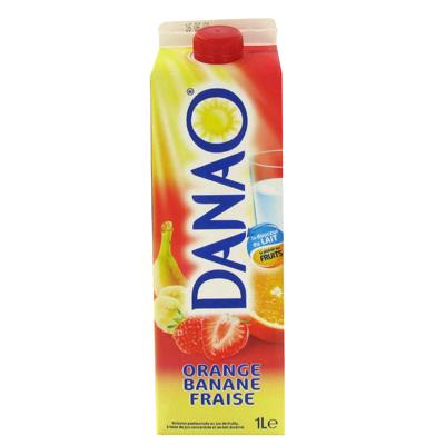 Boisson lactee Danao Orange banane fraise 1l