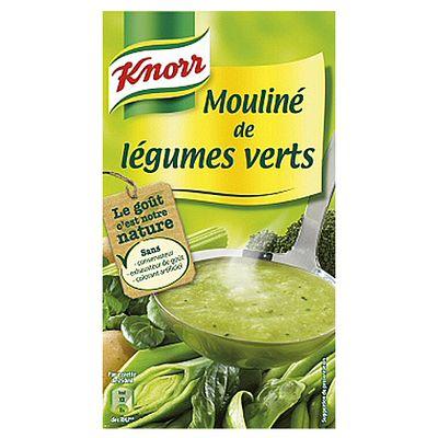 Soupe moulinee aux legumes verts KNORR, 1l