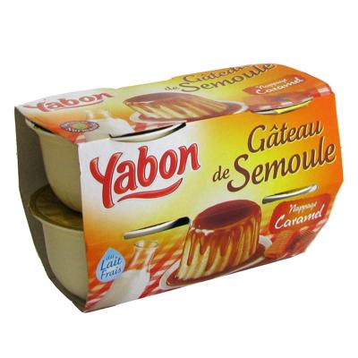 Gateau de semoule au caramel YABON, 4x125g