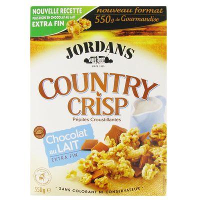Cereales Country Crisp au chocolat au lait extra fin JORDANS, 550g