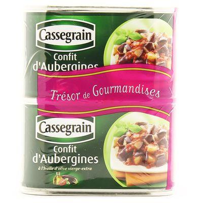 Lot de 2 paquets de Confit d'Aubergines 2 x 375 g