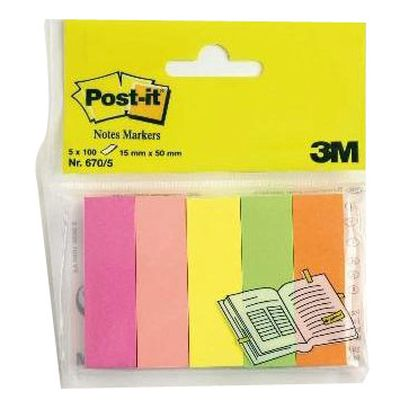 Post-it Marque-pages 15 x 50 mm