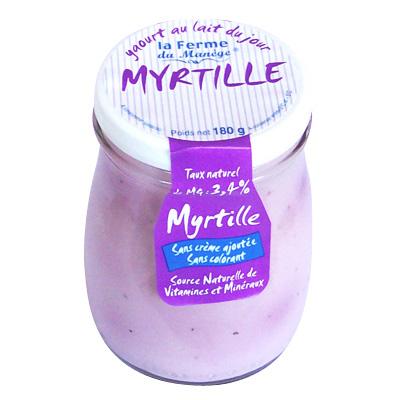 Yaourt Myrtille au lait entier
