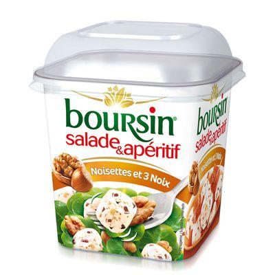 BOURSIN Salade au lait pasteurise noisettes et noix, 41%MG, 120g