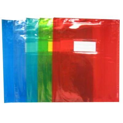 Cora Protège-cahiers 24 x 32 cm cristal couleurs assorties