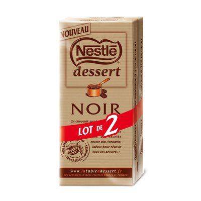 Chocolat noir NESTLE Dessert, 2x200g