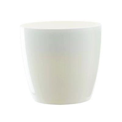 Elho Cache-pot Brussel Blanc, Diamètre de 18 cm : houra.fr