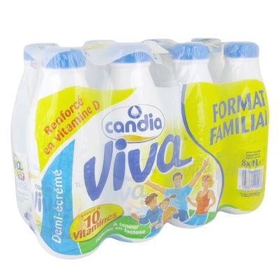 Lait demi-ecreme Viva Candia 8x1l