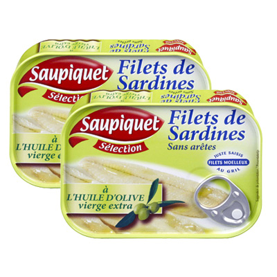 saupiquet filets de sardine l 39 huile d 39 olive lot de. Black Bedroom Furniture Sets. Home Design Ideas