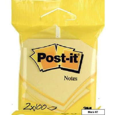 Post-it Blocs-notes 100 feuilles jaunes