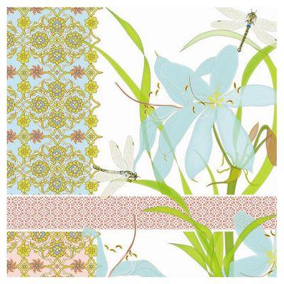 20 serviettes papier waterside,Paperproducts Design,