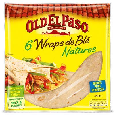 Wraps de ble souples OLD EL PASO, 6 unites, 350g