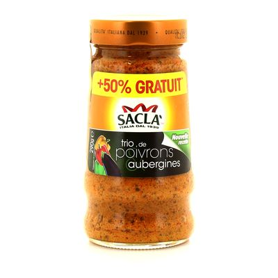 Sacla sauce trio de poivrons et aubergines 190g