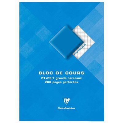 Clairefontaine Bloc de cours 21 x 29,7 cm grands carreaux