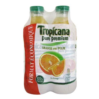 Jus d'orange Tropicana Pulpe 2x1l
