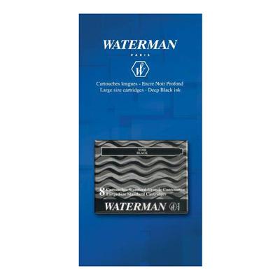Waterman Cartouches longues d'encre noire