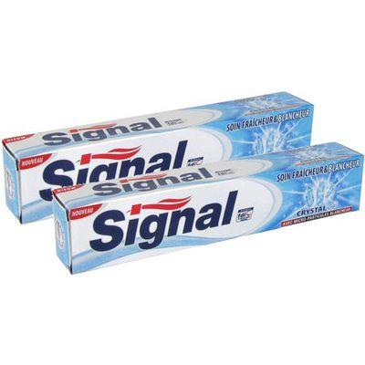 Signal Dentifrice en tube Soin Fraîcheur et Blancheur Crystal Gel