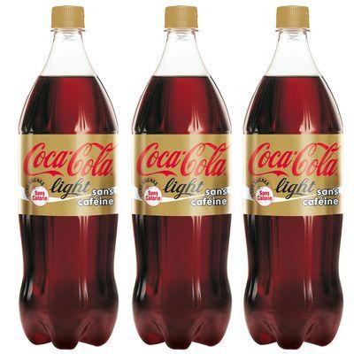 Sans caféine, 3x,COCA-COLA LIGHT,3x