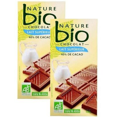 Nature Bio Chocolat supérieur au lait bio