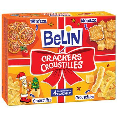 Assortiment de crackers et souffles aperitif BELIN, 285g