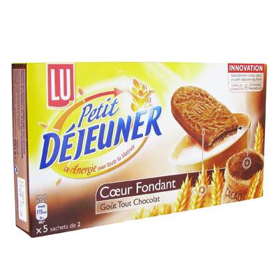 Biscuits aux cereales, fourres, Coeur fondant gout chocolat