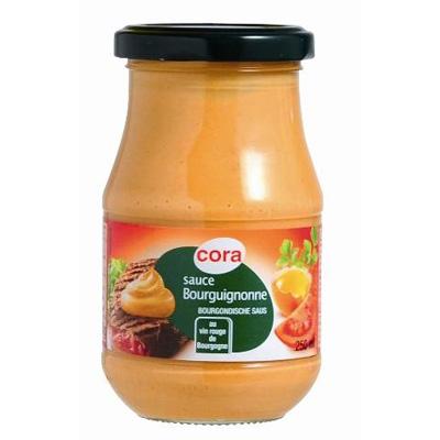 Cora sauce bourguignonne en bocal verre 250ml