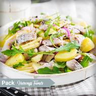 Salade de pommes de terre aux harengs fumés (photo non contractuelle)