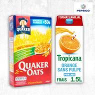 L'essentiel du Petit Déjeuner Tropicana-Quaker (photo non contractuelle)