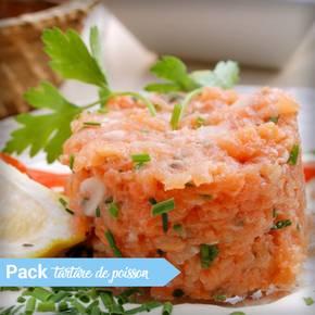 Tartare de poisson sur lit de tomate