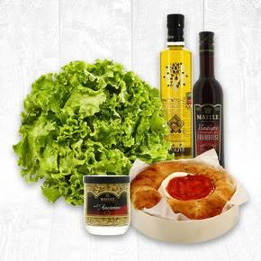 tartelette salée, salade