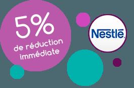 5% de réduction immédiate