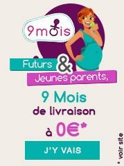 Futurs et jeunes parents, 9 mois de livraisons à 0 euro