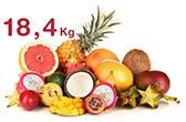 18.4kg de fruits exotiques consommés